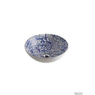 Comparison Sicilia Ceramic Circular Vessel Bathroom Sink ByHispania Home