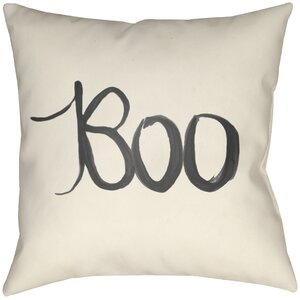 Lodge Cabin Boo Indoor/Outdoor Throw Pillow