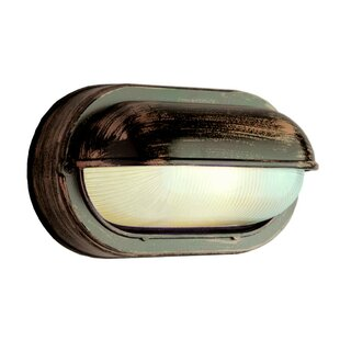 Find Foley 1-Light Outdoor Flush Mount By Highland Dunes