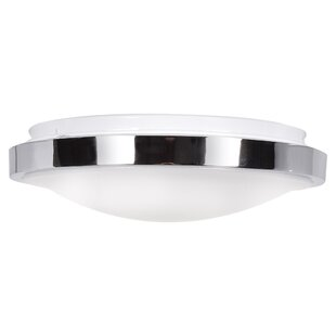 Affordable Price Rabayda 1-Light LED Flush Mount By Ebern Designs
