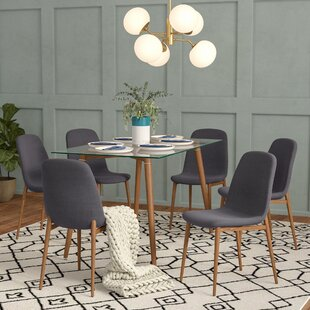 Gramercy Park Modern Glass 7 Piece Dining Set Brayden Studio