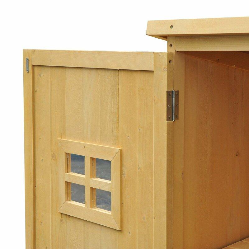 outsunny 164 cm x 50 cm ger teschuppen aus holz bewertungen. Black Bedroom Furniture Sets. Home Design Ideas