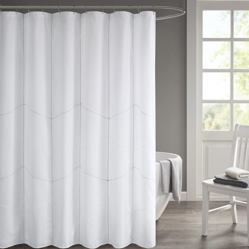 Ebern Designs Easley Solid Shower Curtain | Wayfair