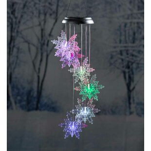 Mobile Changing Solar Snowflake Lighted Display by Plow & Hearth