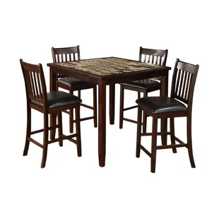 Burley Oak 5 Piece Counter Height Dining Set by Red Barrel Studio