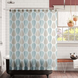 Belville Leaf Design PEVA Single Shower Curtain