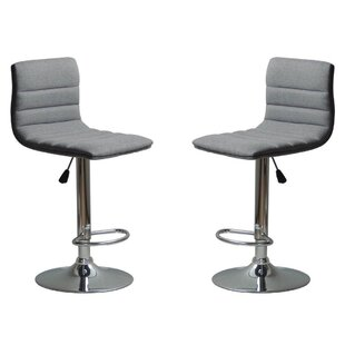 Check Prices Mance Adjustable Height Bar Stool (Set of 2) by Brayden Studio Reviews (2019) & Buyer's Guide