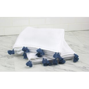Brimmer Tasseled 2 Piece Turkish Cotton Bath Towel Set by Bungalow Rose Spacial Price