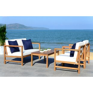 Crocett 4 Piece Sofa Seating Group with Cushions