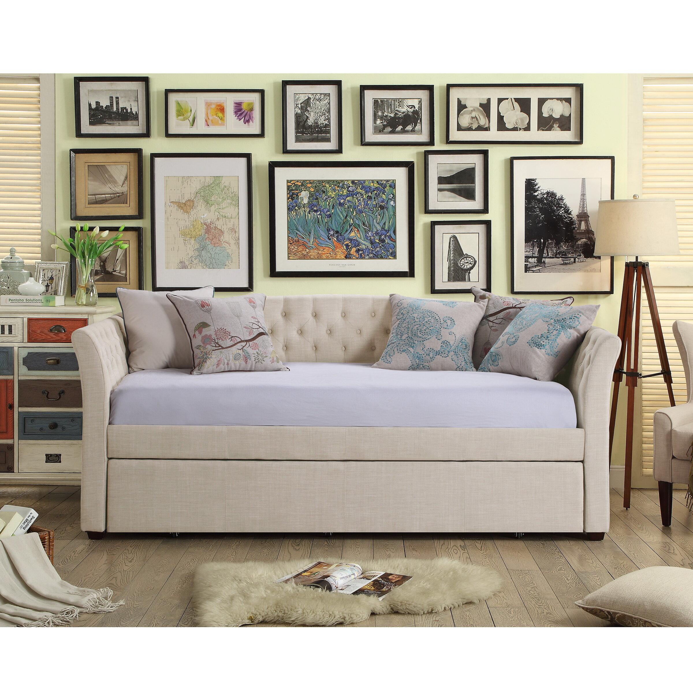Day Bed.Milligan Twin Daybed With Trundle