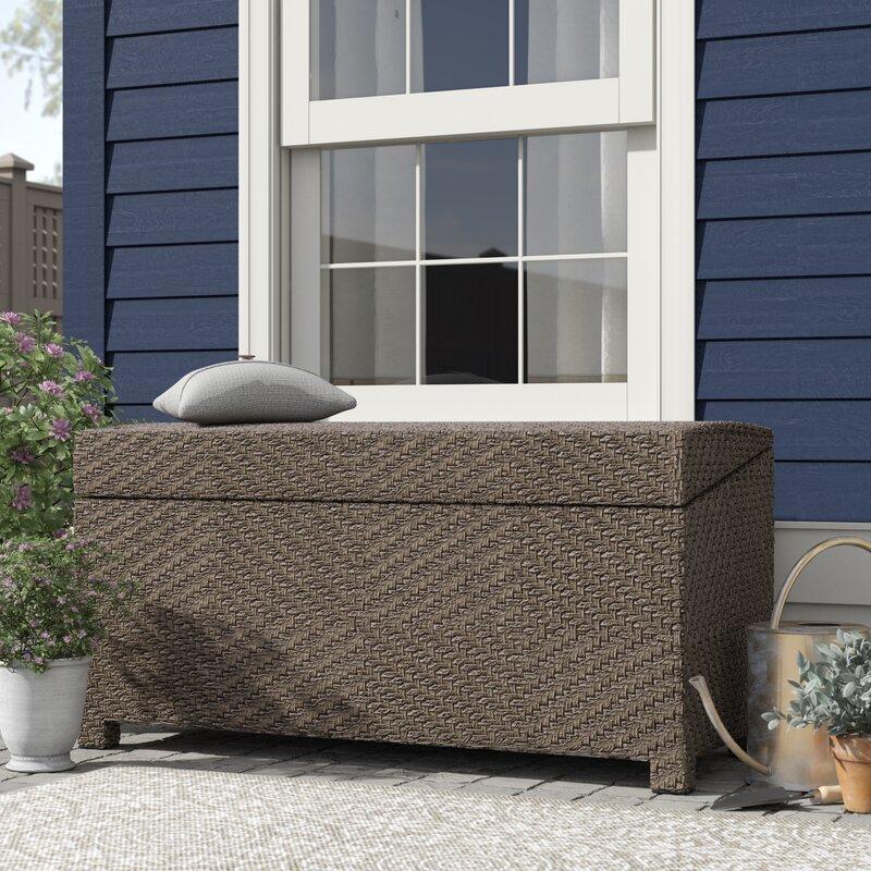 Bayou Breeze Hetzel 150 Gallon Wicker Deck Box