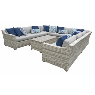 Falmouth 11 Piece Sectional Seating Group with Cushions