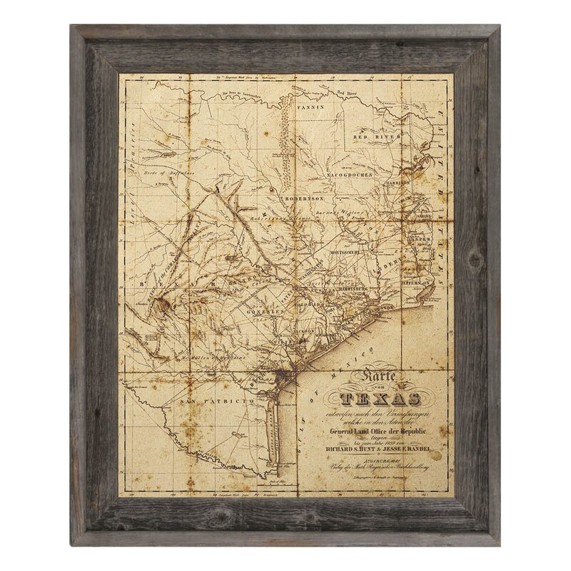 Breakwater Bay Sepia Texas Map Picture Frame Graphic Art Print On Canvas Reviews Wayfair Ca