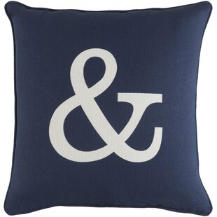 Yahya Ampersand Cotton Throw Pillow Cover