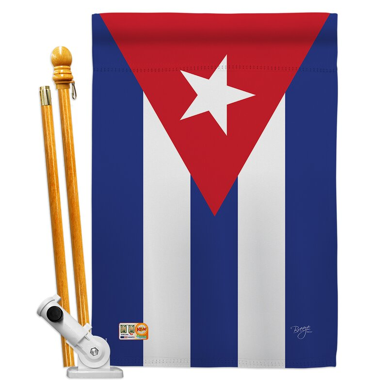 Breeze Decor Cuba Flags Of The World Nationality Impressions 2 Sided Polyester 40 X 28 In Flag Set Wayfair
