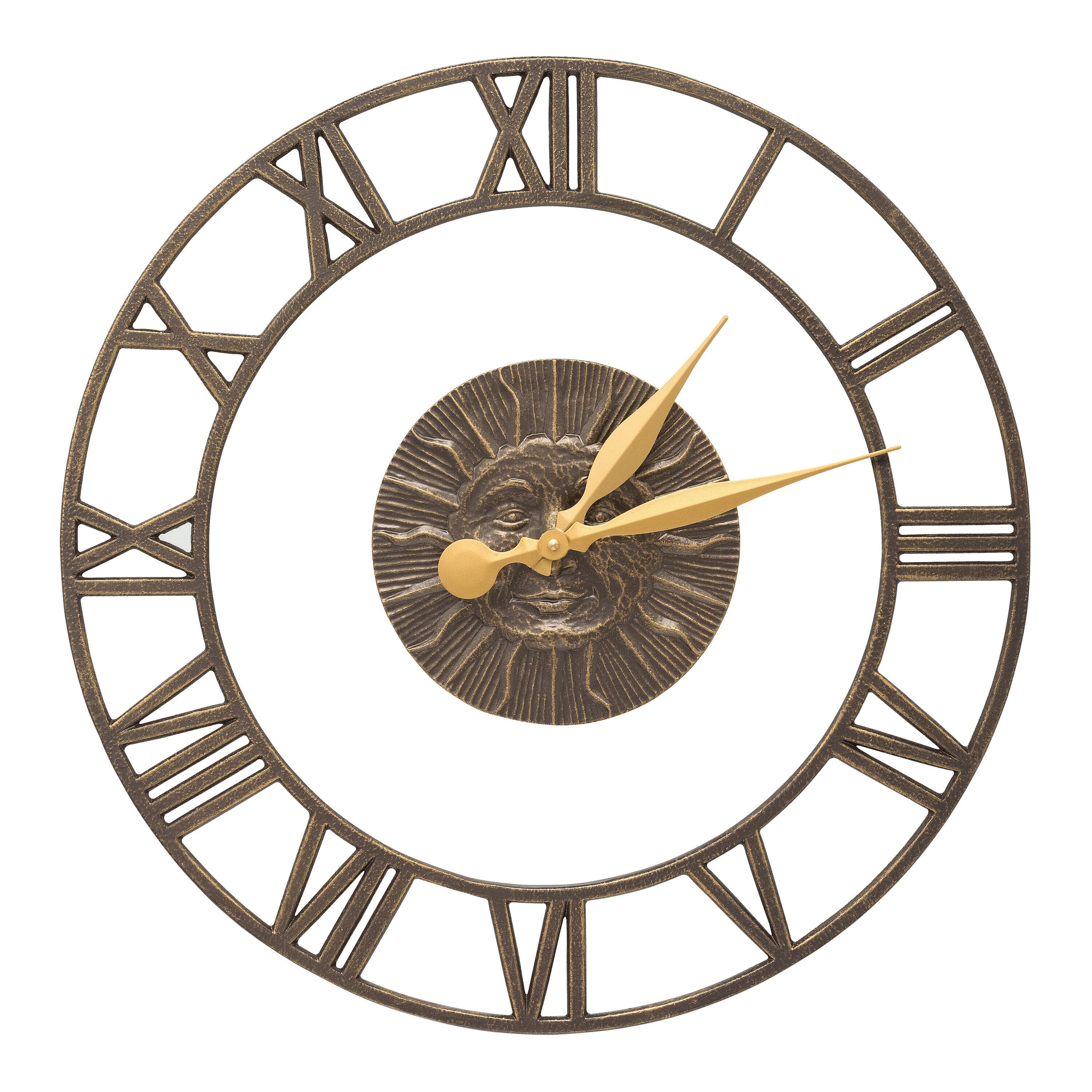 21 Sunface Floating Ring Indoor Outdoor Wall Clock