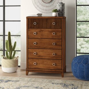 Esmeralda Transitional Style 5 Drawer Chest