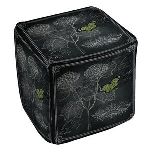 Chalkboard Botanical 1 Ottoman by Manual Woodworkers & Weavers