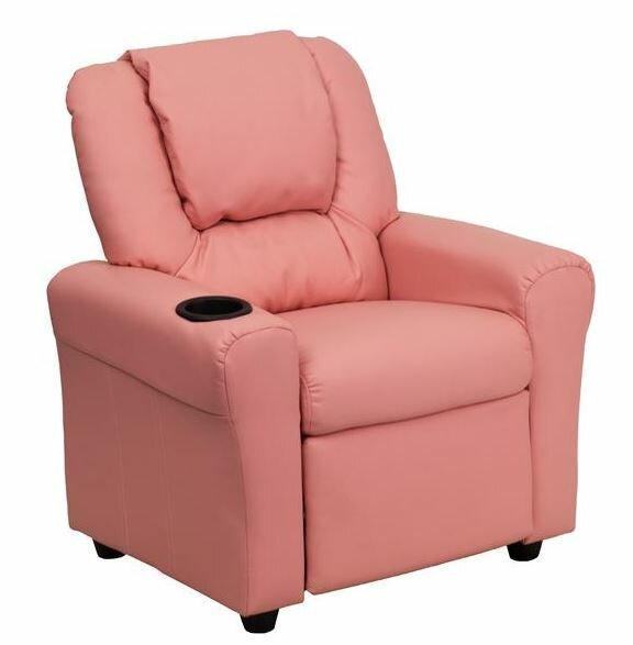 Contemporary Personalized Kids Recliner with Cup Holder  sc 1 st  Wayfair & Flash Furniture Contemporary Personalized Kids Recliner with Cup ... islam-shia.org