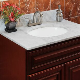 "Cara White 37"" Single Bathroom Vanity Top"