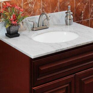 Compare & Buy Cara White 49 Single Bathroom Vanity Top ByLessCare
