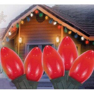 25 Ceramic Style LED Retro Style C7 Christmas Light String