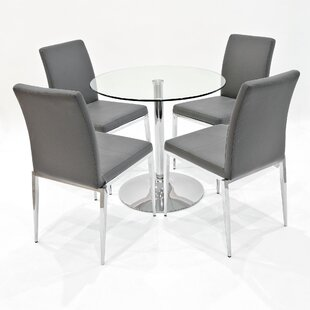 Andreas Dining Set With 4 Chairs By Metro Lane