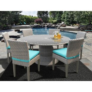 Meeks 7 Piece Dining Set with Cushions by Rosecliff Heights