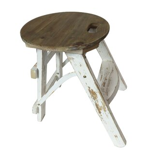 Jauss Washed Wood Stool By Lily Manor