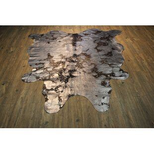 Find a Augustine Hand Woven Cowhide Metallic Silver/Black Area Rug ByBloomsbury Market