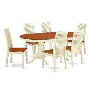 Pilcher 7 Piece Solid Wood Dining Set August Grove