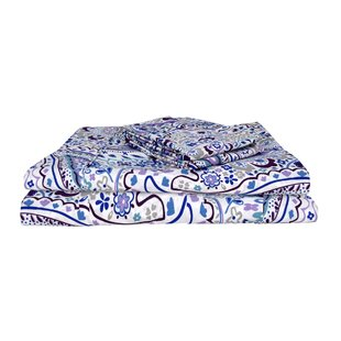 Cantu Vintage Exclusive Designer 400 Thread Count Abstract 100% Cotton Sheet Set (Set of 4)