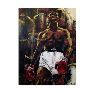 'Muhammad Ali' Acrylic Painting Print on Wrapped Canvas by Trademark Fine Art