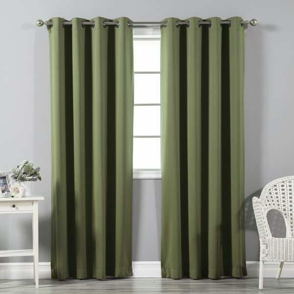 Best Home Fashion, Inc. Solid Blackout Thermal Grommet Curtain Panels & Reviews by Best Home Fashion, Inc.