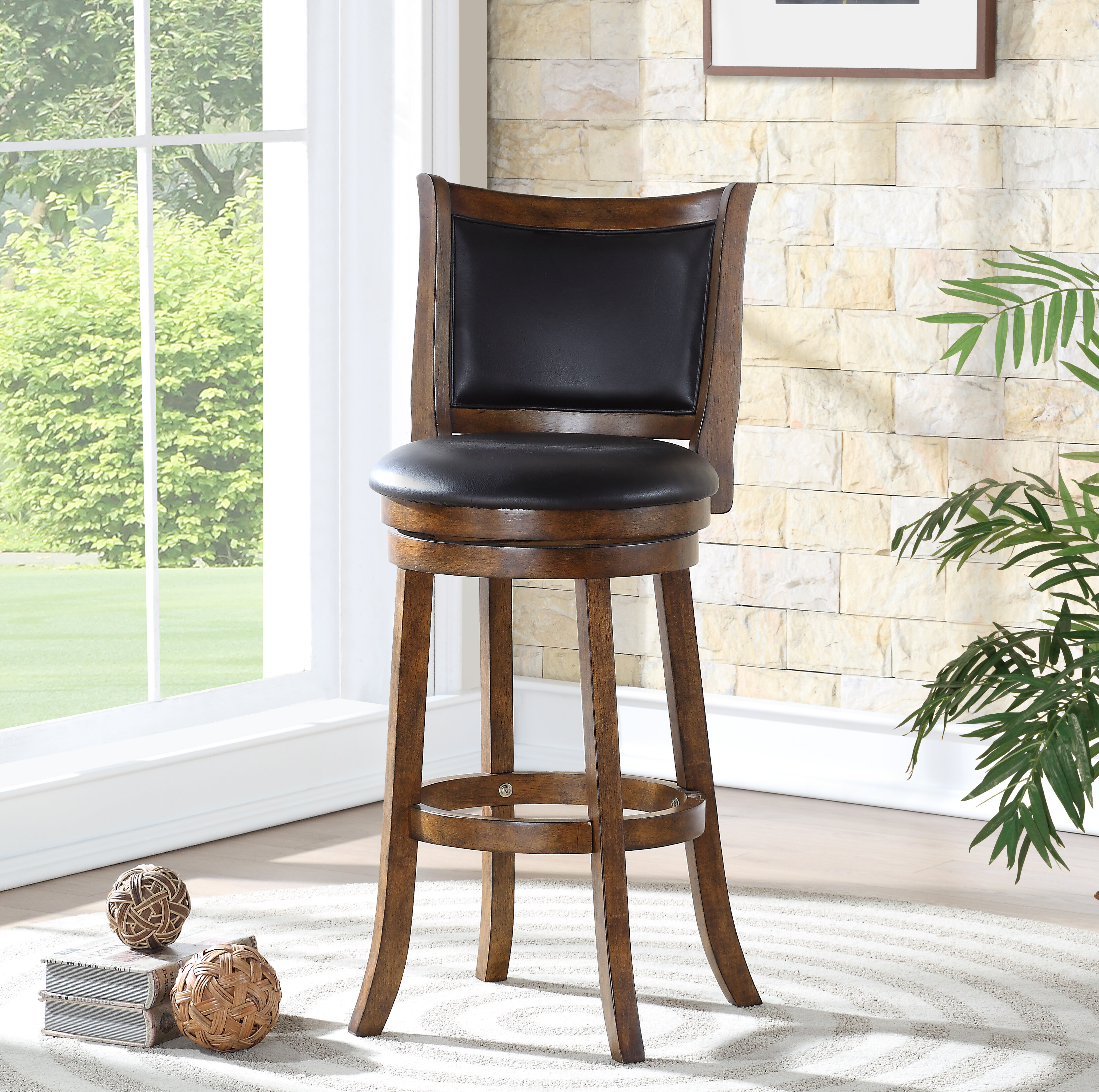 Leather Rustic Bar Stools Counter Stools You Ll Love In 2021 Wayfair