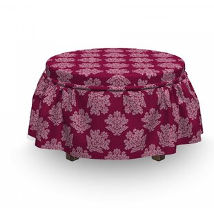 Victorian Flower Damask Ottoman Slipcover (Set Of 2) By East Urban Home