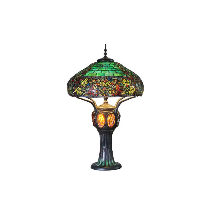 River of goods hampstead tiffany style stained glass 34 table hampstead tiffany style stained glass 34 table lamp aloadofball Gallery