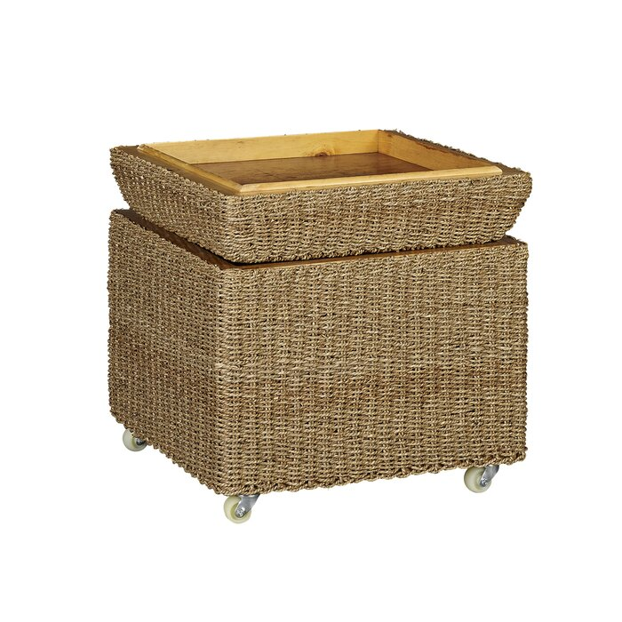best service fad73 501f4 Griffen Upholstered Rolling Storage Ottoman