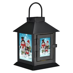 Snow Family Generation II Metal Lantern by The Holiday Aisle