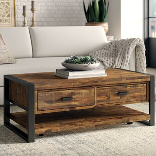 Telfair Coffee Table with Storage by Greyleigh