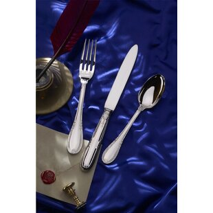 Impero 5 Piece 18/10 Stainless Steel Flatware Set, Service for 1