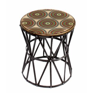 Costanza Aesthetically Charmed Round Metal End Table