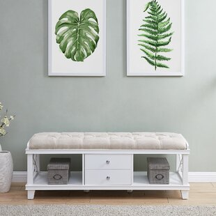 Highland Dunes Broseley Upholstered Storage Bench