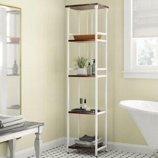 narrow bathroom storage shelf wayfair rh wayfair com narrow bathroom floor shelf narrow bathroom ladder shelf