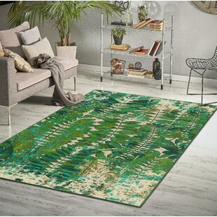 Kubik Green Beige Area Rug Wayfair