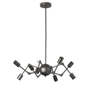 Radionic Hi Tech Desoto 8-Light Sputnik Chandelier