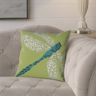 Telford Beaded Dragonfly Indoor/Outdoor Throw Pillow