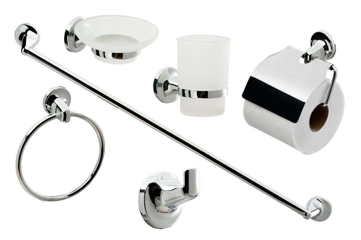 cassellie 6 tlg badezimmer zubeh r set bewertungen. Black Bedroom Furniture Sets. Home Design Ideas