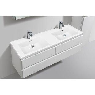 Mccarty 59  Wall- Mounted Double Bathroom Vanity with LED Lights  sc 1 st  Wayfair & Bathroom Faucet With Led Light | Wayfair