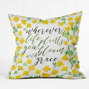 Hello Sayang Bloom with Grace Throw Pillow